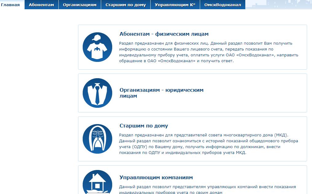 Кабинеты от компании Омскводоканал