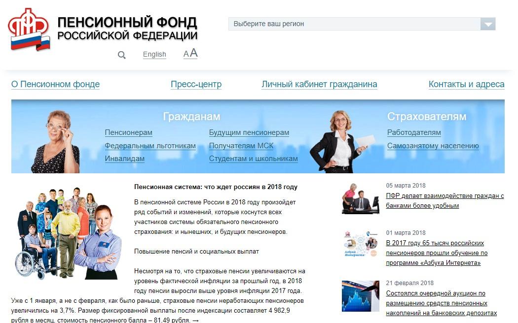Портал Пенсионный фонд России