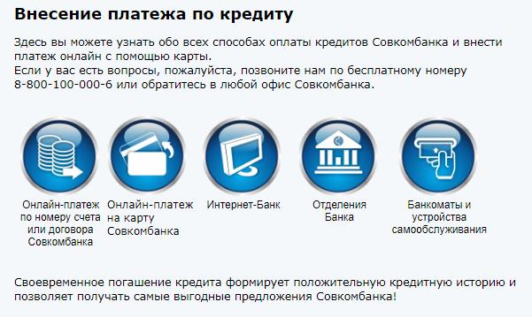 Оплата онлайн по кредиту в личном кабинете